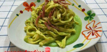 Tagliatelle fresche con crema di fave e speck croccante – Oggi cucina…Emanuele