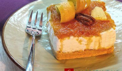 Cheesecake light agli agrumi e zenzero