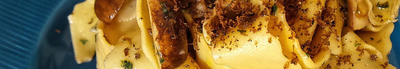 Pappardelle ricce fresche ai funghi porcini